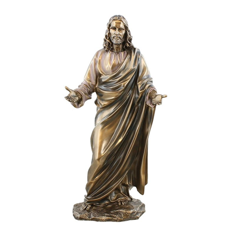 Resin Cold Cast Bronze Effect Christian Jesus Statue