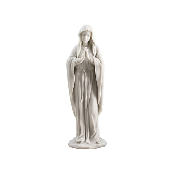 Classic Resin White Virgin Mary Statue