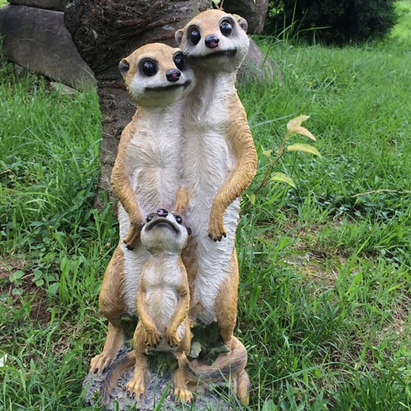 Resin Water Proof Decorative Meerkat Figurines