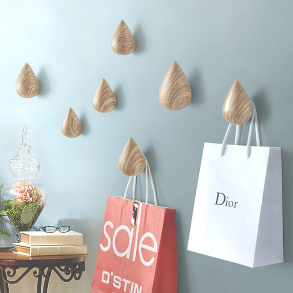 Wooden Rain Drop Wall Decor Wall Hanger