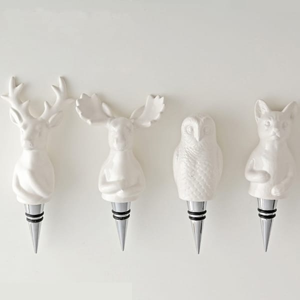 Resin 3D White Animal Bo...