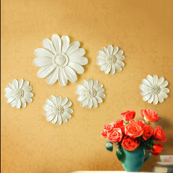 Custom Design Resin Sunflower Wall Decal Decor
