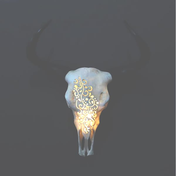 Illuminated Goat Head Wall Decor
