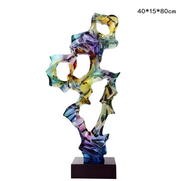 clear resin sculpture