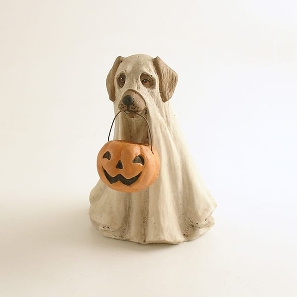 Decor Accessory Resin Halloween Dog Figurine