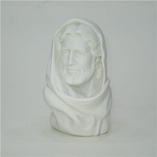 Pure White Marble Effect Resin Jesus Bust Statue