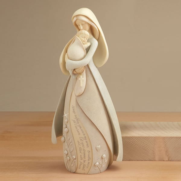 Resin Mary And Baby Jesus Statue Figurine