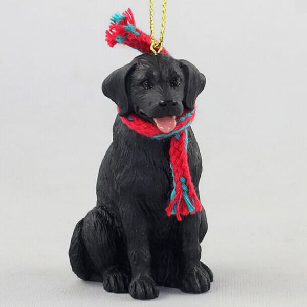 Resin Small Dog Ornament With Scarf
