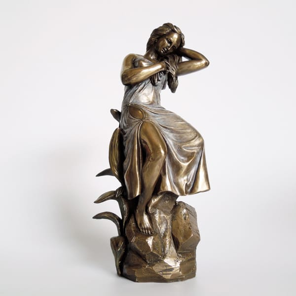 Cold casting Bronze Resin Lady Statue