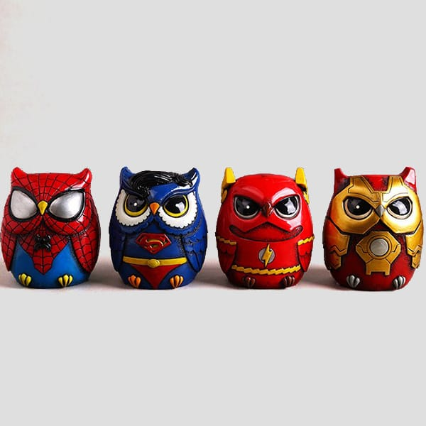 (DC Marvel heroes)Resin cartoon owl figurine