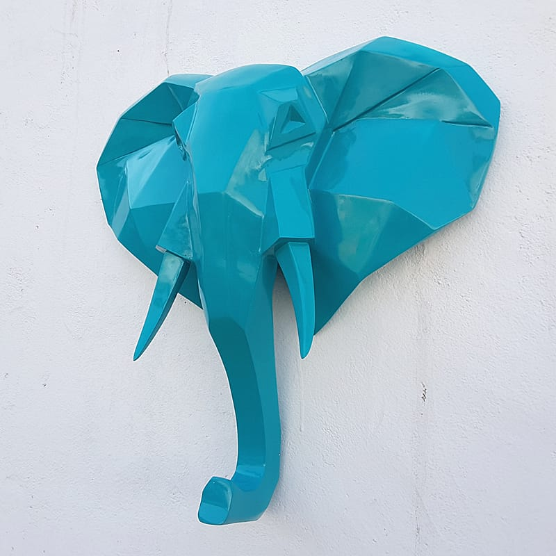 Polygon design Elephant Head Wall Mount