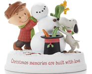 Charlie Brown and Snoopy Christmas Memories Figures
