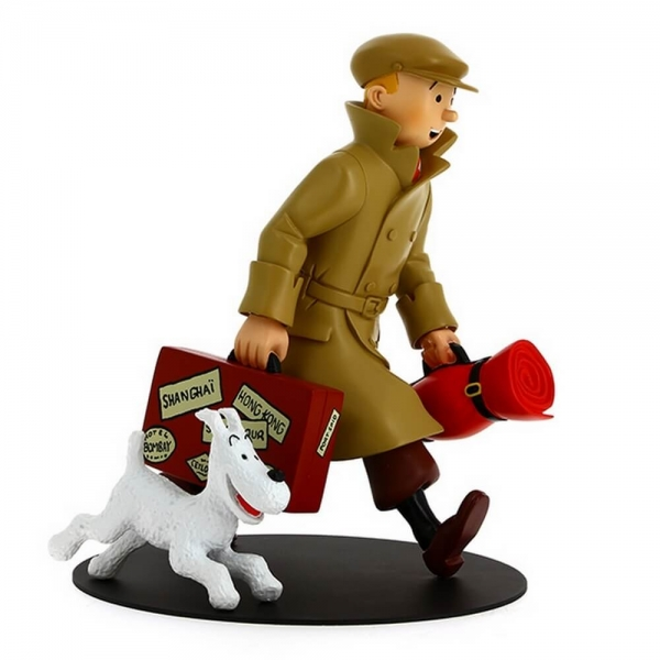 Customized Polyresin cartoon figurine Tintin Figure