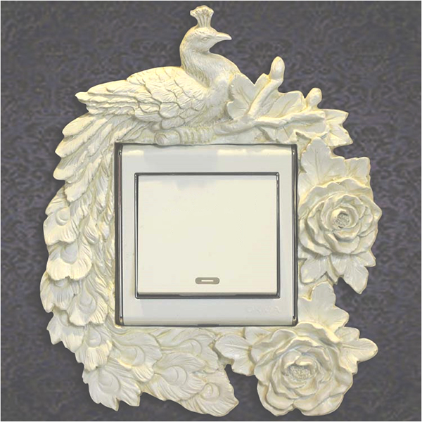 Resin European Style Angel Wall Swtch Plate